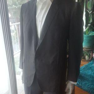 Vintage men's suit jacket tailored charcoal grey
